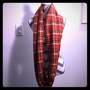 LOFT red plaid infinity scarf